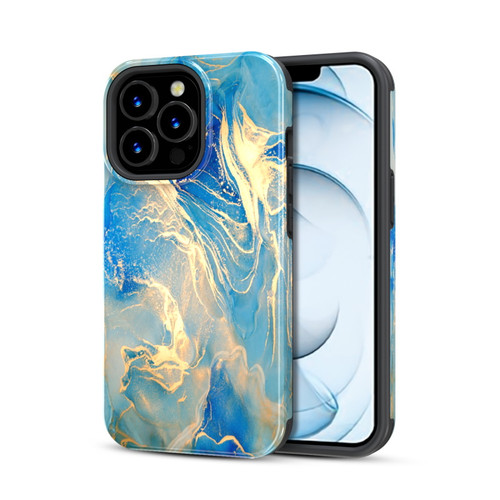 MyBat Pro Fuse Series Case with Magnet for Apple iPhone 13 Pro Max (6.7) - Ocean Marble