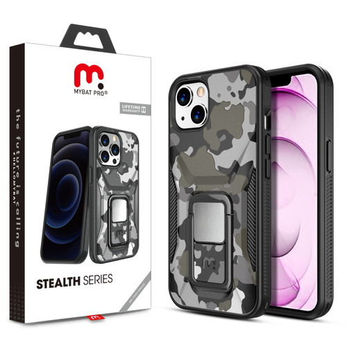 MyBat Pro Stealth Series (with Stand) for Apple iPhone 13 mini (5.4) - Black Camo / Black
