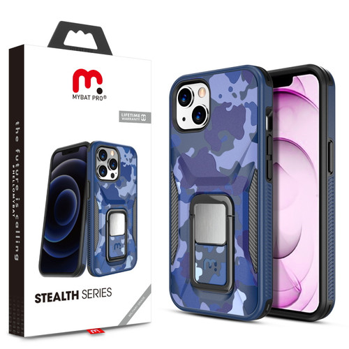 MyBat Pro Stealth Series (with Stand) for Apple iPhone 13 mini (5.4) - Blue Camo / Black