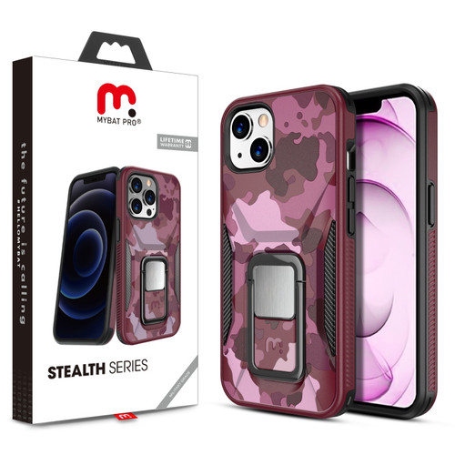 MyBat Pro Stealth Series (with Stand) for Apple iPhone 13 mini (5.4) - Plum Camo / Black