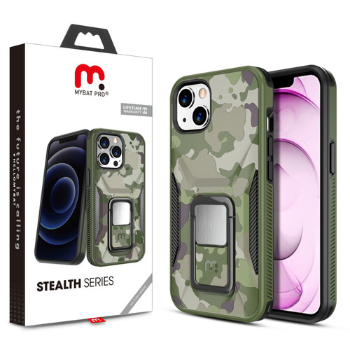 MyBat Pro Stealth Series (with Stand) for Apple iPhone 13 mini (5.4) - Army Green Camo / Black