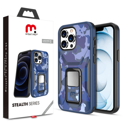 MyBat Pro Stealth Series (with Stand) for Apple iPhone 13 Pro Max (6.7) - Blue Camo / Black