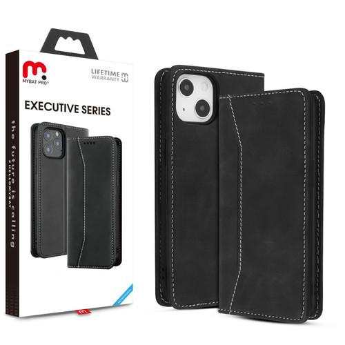 MyBat Pro Antimicrobial Executive Series Wallet Case for Apple iPhone 13 mini (5.4) - Black