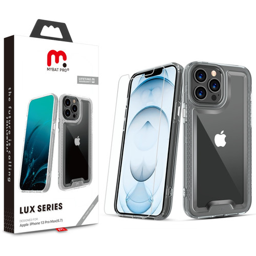 MyBat Pro Lux Series Case with Tempered Glass for Apple iPhone 13 Pro Max (6.7) - Clear