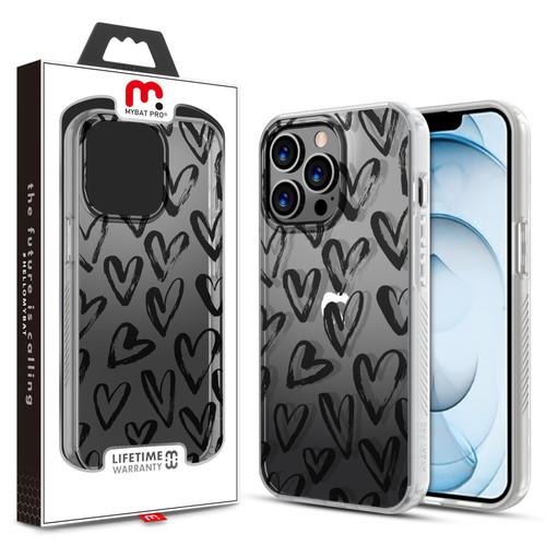 MyBat Pro Mood Series Case for Apple iPhone 13 Pro Max (6.7) - Black Hearts