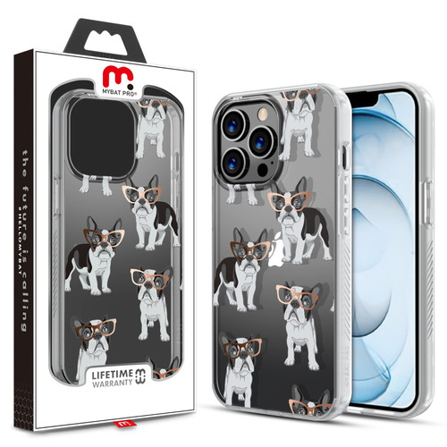 MyBat Pro Mood Series Case for Apple iPhone 13 Pro Max (6.7) - Chic Frenchie