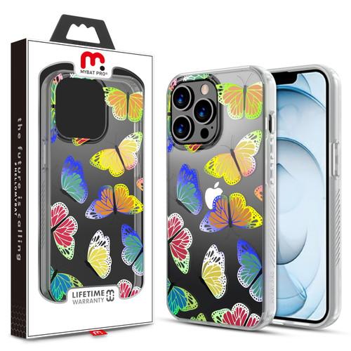MyBat Pro Mood Series Case for Apple iPhone 13 Pro Max (6.7) - Neon Butterflies