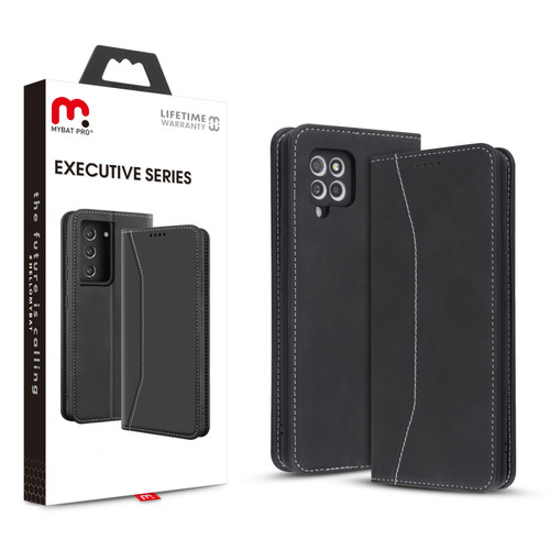 MyBat Pro Executive Series Wallet Case for Samsung Galaxy A42 5G - Black