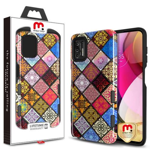 MyBat Pro TUFF Subs Series Case for Motorola Moto G Stylus (2021) - Mediterranean / Black