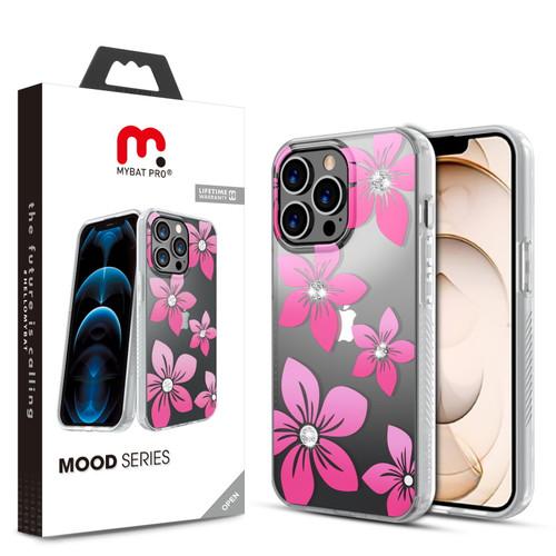 MyBat Pro Mood Series Case (with Diamonds) for Apple iPhone 13 Pro (6.1) - Blossom