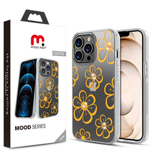 MyBat Pro Mood Series Case (with Diamonds) for Apple iPhone 13 Pro (6.1) - Golden