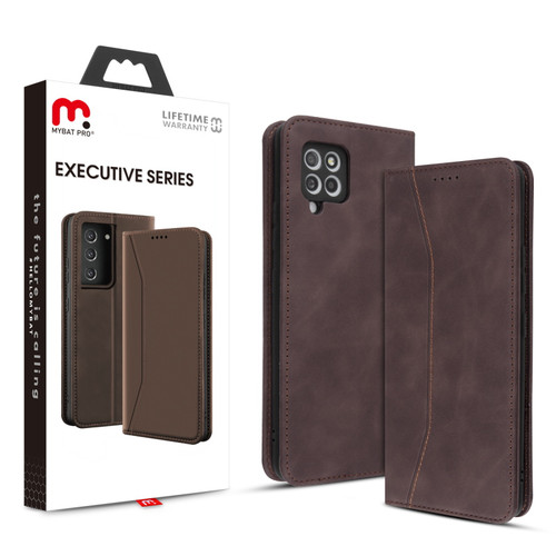 MyBat Pro Executive Series Wallet Case for Samsung Galaxy A42 5G - Brown
