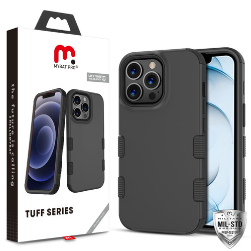 MyBat Pro TUFF Series Case for Apple iPhone 13 Pro Max (6.7) - Black