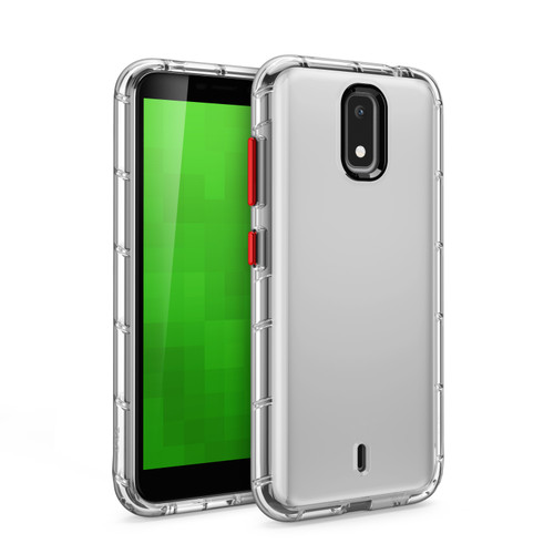 ZIZO SURGE Series for Cricket Debut Case - Sleek Clear Case Customizable Buttons - Clear SUR-CKDB-CL