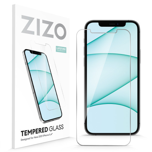 ZIZO TEMPERED GLASS Screen Protector for iPhone 13 Mini Clear Screen Protector with Anti Scratch and 9H Hardness - Clear LSHD-IPH2154-CL