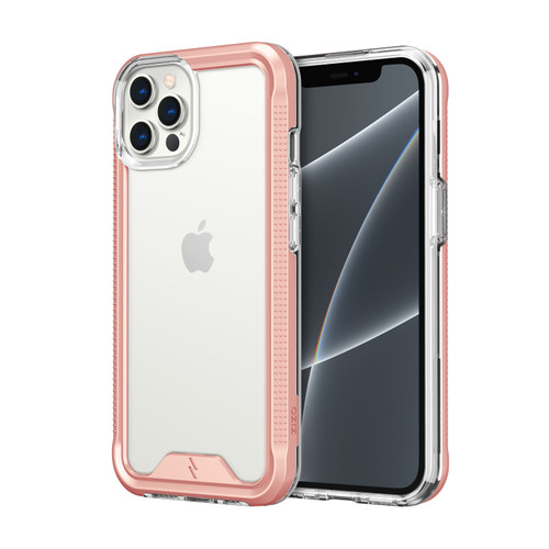 ZIZO ION Series for iPhone 13 Pro Max Case - Military Grade Drop Tested with Tempered Glass Screen Protector - Rose Gold IONC-IPH2167-RGDCL