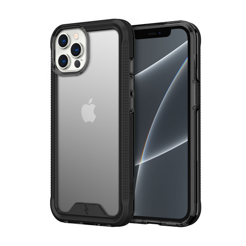 ZIZO ION Series for iPhone 13 Pro Max Case - Military Grade Drop Tested with Tempered Glass Screen Protector - Black Smoke IONC-IPH2167-BKSM