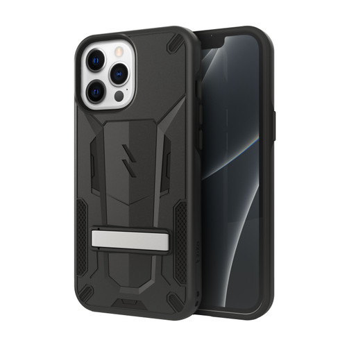 ZIZO TRANSFORM Series for iPhone 13 Pro Max Case - Rugged Dual-layer Protection with Kickstand - Black TFM-IPH2167-BKBK