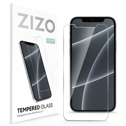 ZIZO TEMPERED GLASS Screen Protector for iPhone 13 Pro Max Clear Screen Protector with Anti Scratch and 9H Hardness - Clear LSHD-IPH2167-CL