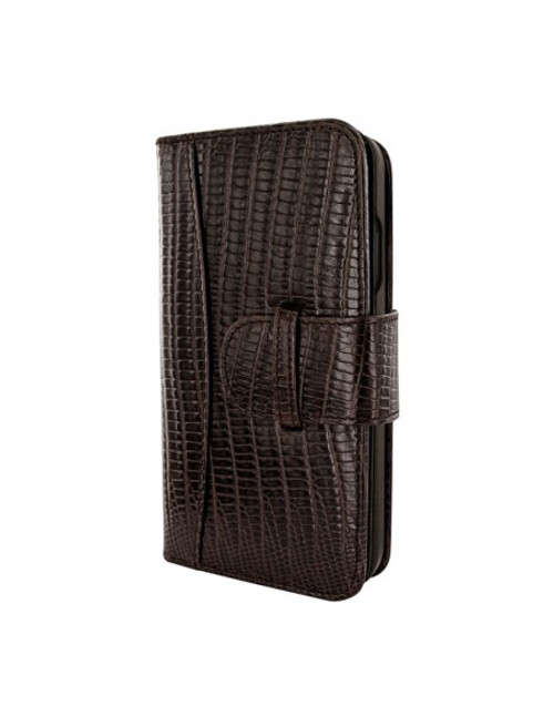 Piel Frama 890 Brown Lizard WalletMagnum Leather Case for Apple iPhone 13 Pro Max