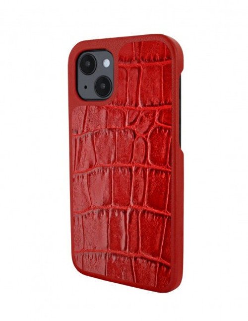 Piel Frama 907 Red Crocodile LuxInlay Leather Case for Apple iPhone 13