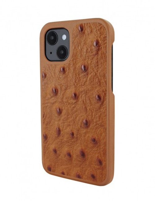 Piel Frama 907 Tan Ostrich LuxInlay Leather Case for Apple iPhone 13