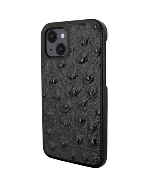 Piel Frama 907 Black Ostrich LuxInlay Leather Case for Apple iPhone 13