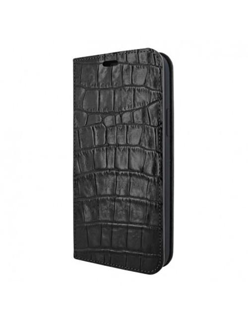 Piel Frama 915 Black Crocodile FramaSlimCards Leather Case for Apple iPhone 13