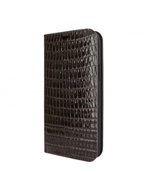 Piel Frama 915 Brown Lizard FramaSlimCards Leather Case for Apple iPhone 13