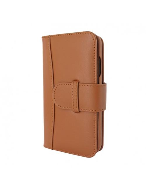 Piel Frama 905 Tan WalletMagnum Leather Case for Apple iPhone 13 mini
