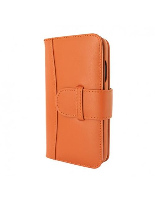 Piel Frama 905 Orange WalletMagnum Leather Case for Apple iPhone 13 mini