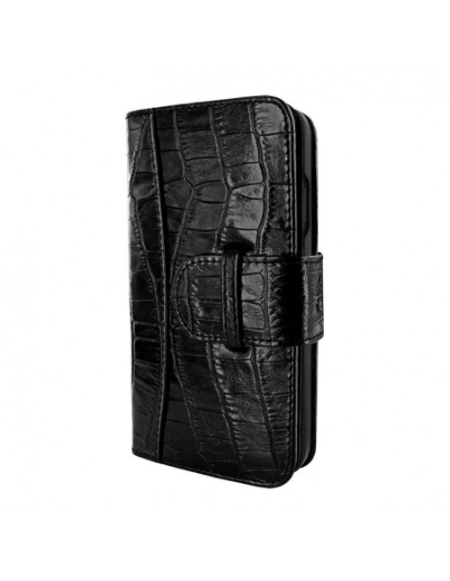 Piel Frama 905 Black Crocodile WalletMagnum Leather Case for Apple iPhone 13 mini