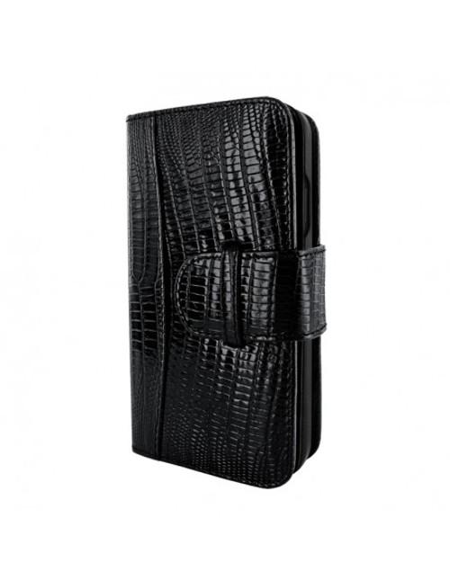 Piel Frama 905 Black Lizard WalletMagnum Leather Case for Apple iPhone 13 mini