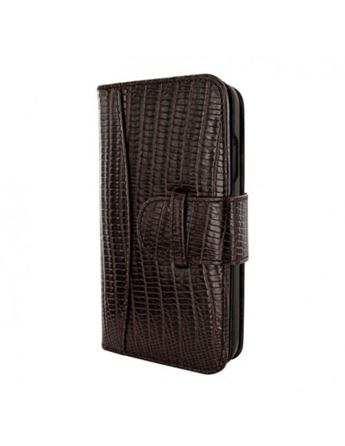 Piel Frama 905 Brown Lizard WalletMagnum Leather Case for Apple iPhone 13 mini