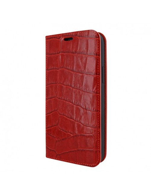 Piel Frama 908 Red Crocodile FramaSlimCards Leather Case for Apple iPhone 13 mini
