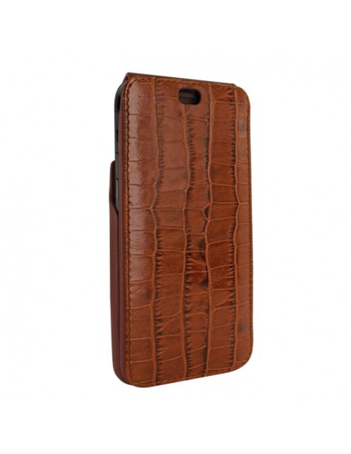 Piel Frama 894 Brown Crocodile iMagnum Leather Case for Apple iPhone 13 Pro Max