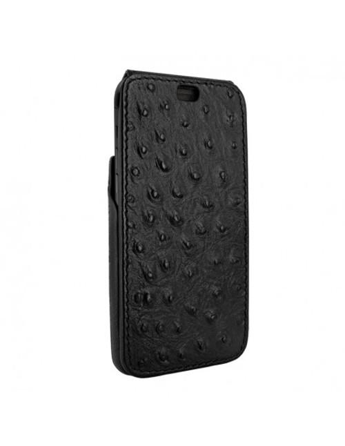 Piel Frama 894 Black Ostrich iMagnum Leather Case for Apple iPhone 13 Pro Max