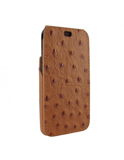 Piel Frama 894 Tan Ostrich iMagnum Leather Case for Apple iPhone 13 Pro Max