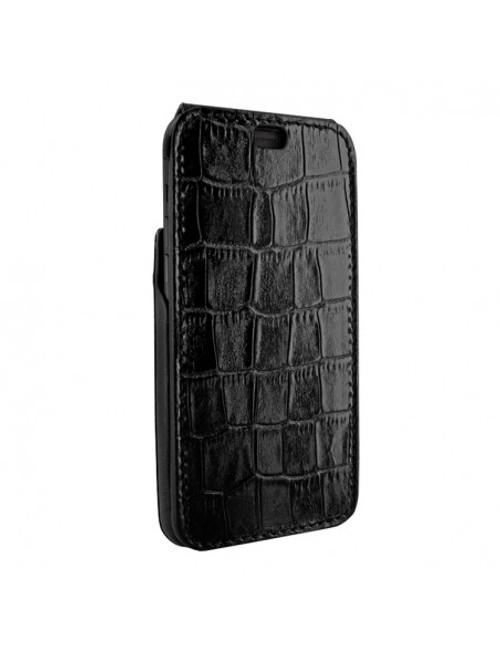 Piel Frama 901 Black Crocodile iMagnum Leather Case for Apple iPhone 13 Pro
