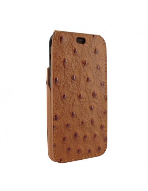 Piel Frama 901 Tan Ostrich iMagnum Leather Case for Apple iPhone 13 Pro