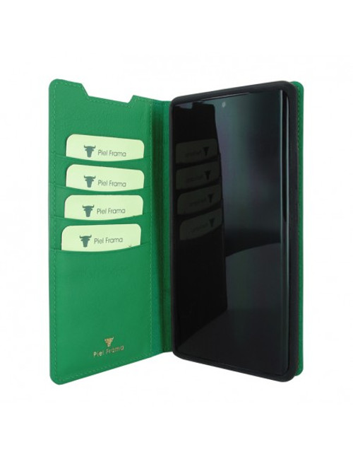 Piel Frama 870 Green FramaSlimCards Leather Case for Samsung Galaxy Note 20 Ultra