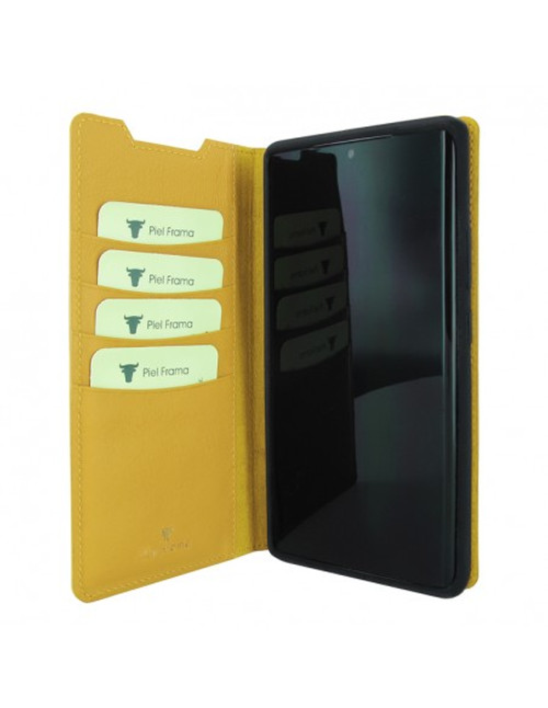 Piel Frama 870 Yellow FramaSlimCards Leather Case for Samsung Galaxy Note 20 Ultra