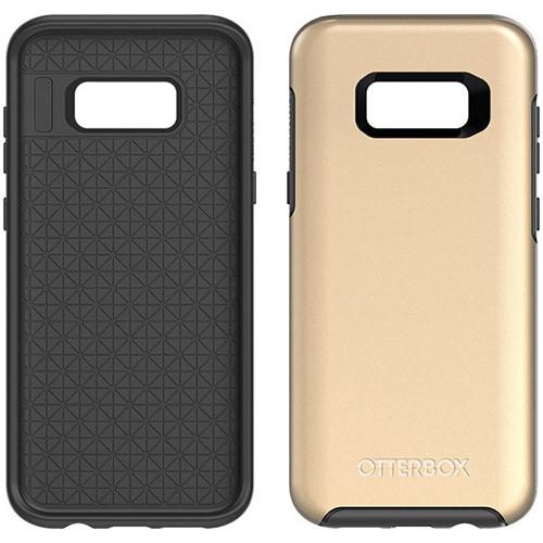 Samsung Galaxy S8 Plus Otterbox Symmetry Metallic Case - Platinum Gold Black And Platinum Gold Graphic