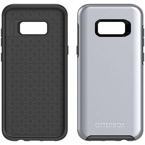 Samsung Galaxy S8 Plus Otterbox Symmetry Metallic Case - Titanium Silver Black And Platinum Metallic Graphic