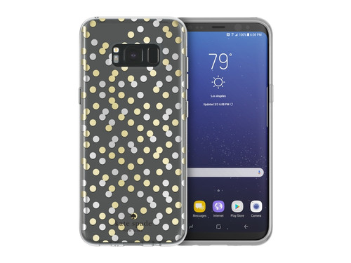 Samsung Galaxy S8 Plus Incipio Kate Spade New York Protective Hardshell Case - All Over Confetti Dot Clear / Gold Foil / Silver Foil