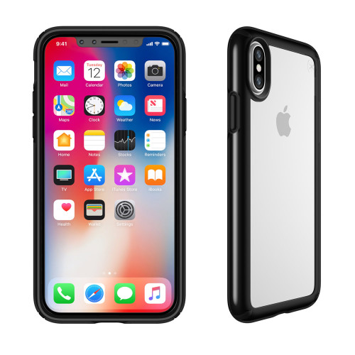 Apple iPhone X Speck Products Presidio Show Case - Clear And Black