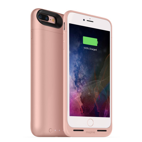 Mophie Juice Pack Air For Apple iPhone 7 Plus  /  iPhone 8 Plus - Rechargeable External Battery Case With Built In Wireless Charging 2420mah - Rose Gold