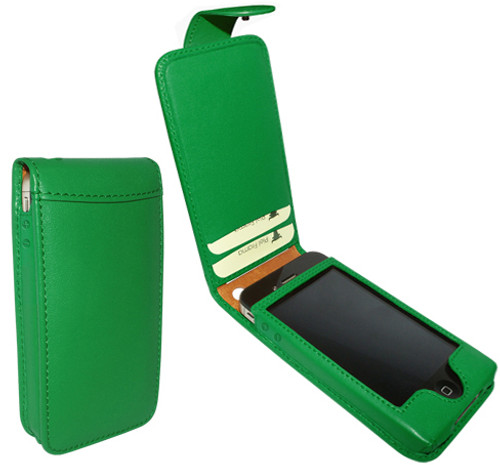 Piel Frama 524 Green Leather Case with Snap Closure for Apple iPhone 4 / 4S