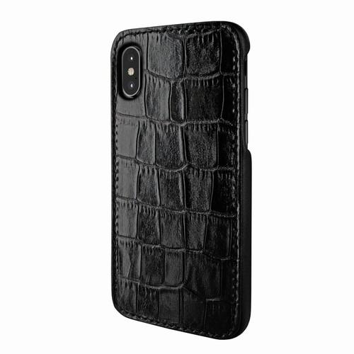 Piel Frama 791 Black Crocodile FramaSlimGrip Leather Case for Apple iPhone X / Xs