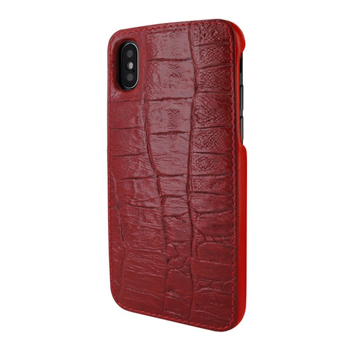 Piel Frama 791 Red Wild Crocodile FramaSlimGrip Leather Case for Apple iPhone X / Xs